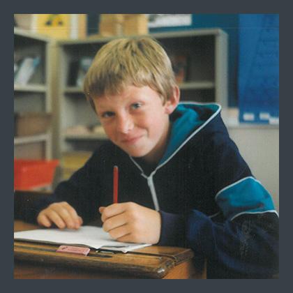 Matt Writing At School
